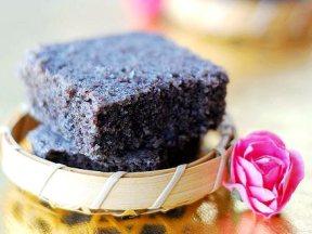 黑米松糕-在家做甜點