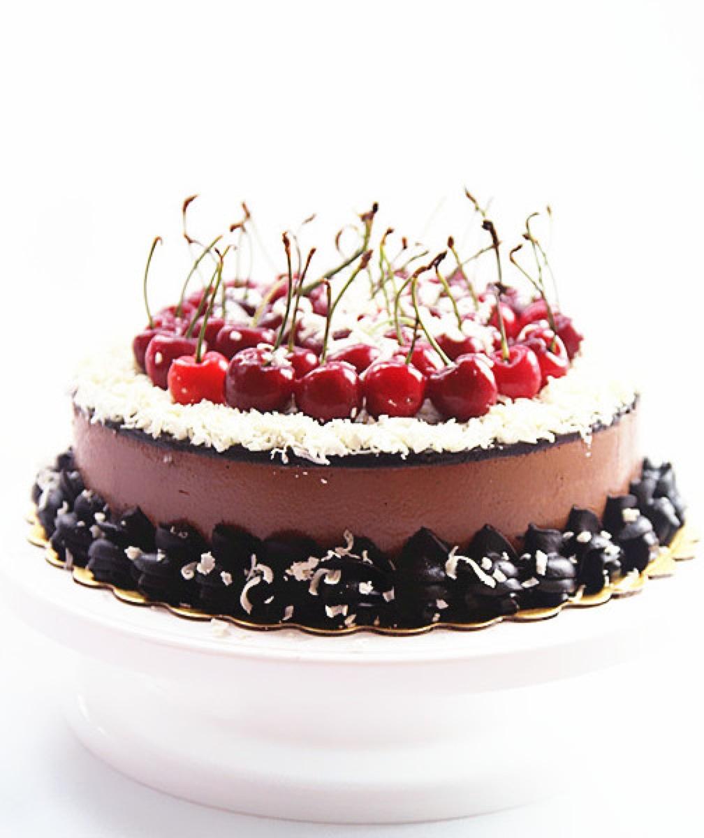 [食譜] 巧克力櫻桃慕斯蛋糕